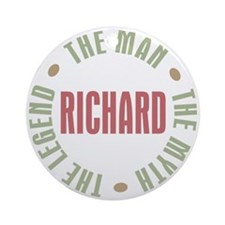 Richard Man Myth Legend Ornament (Round)