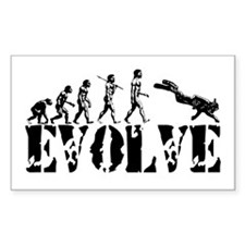 Scuba Diving Rectangle Sticker 50 pk)
