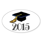 2015 Graduation Class Oval Sticker (10 pk)