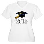 2015 Graduation Class Women's Plus Size V-Neck T-S