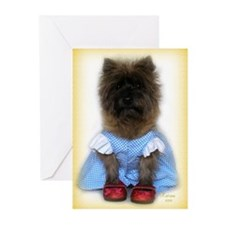 Toto Dorothy Over the Ra Greeting Cards (Pk of 10)