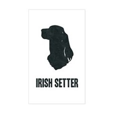 Irish Setter Silhouette Rectangle Decal
