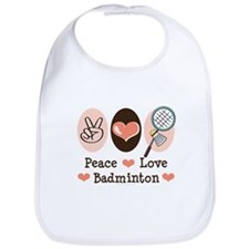 Peace Love Badminton Bib