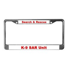 Cute Search rescue License Plate Frame