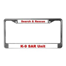 Cute Search and rescue k 9 License Plate Frame
