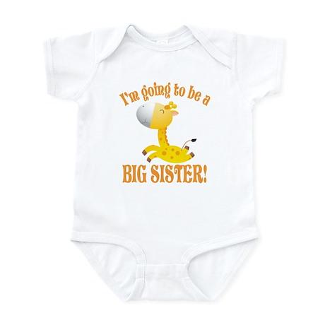 Big Sister Giraffe Infant Bodysuit