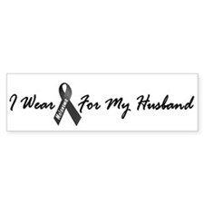 I Wear Black For My Husband 1 Bumper Car Sticker