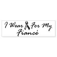 I Wear Black For My Fiancé 1 Bumper Sticker