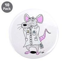 "Scientist Lab Rat 3.5"" Button (10 pack)"