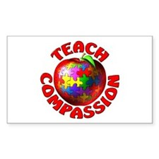 Teach Compassion Rectangle Decal