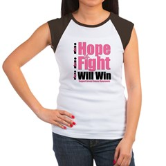 Hope, Fight, Win BC Women's Cap Sleeve T-Shirt