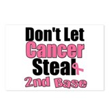 Don't Let Cancer Steal 2nd Base Postcards (Package
