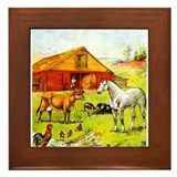 A Day on the Farm Framed Tile
