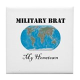 Navy brat Tile Coaster