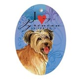 Pyrenean Shepherd Oval Ornament