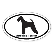 AIREDALE TERRIER Oval Sticker (10 pk)
