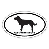 AUSTRALIAN KELPIE Oval Decal