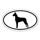 GREAT DANE Oval Decal