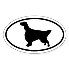 ENGLISH SETTER Oval Sticker (10 pk)