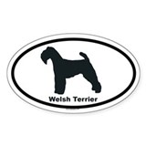 WELSH TERRIER Oval Sticker (50 pk)