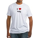 I LOVE MOLLY Fitted T-Shirt
