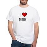 I LOVE MOLLY White T-Shirt