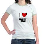 I LOVE MOLLY Jr. Ringer T-Shirt