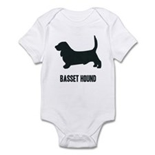 Silhouette - Basset Hound Infant Bodysuit
