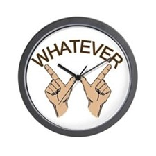 Whatever Hand Gesture Wall Clock