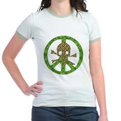 Nature Peace Skull Jr. Ringer T-Shirt