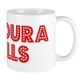 Retro Agoura Hills (Red) Small Mug