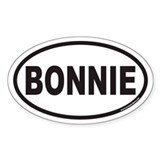 BONNIE Euro Oval Decal