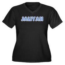 Retro Jaliyah (Blue) Women's Plus Size V-Neck Dark