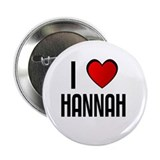 "I LOVE HANNAH 2.25"" Button (100 pack)"