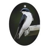 Cute Swallow Oval Ornament