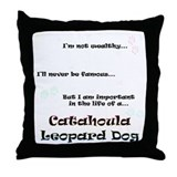 Catahoula Life Throw Pillow