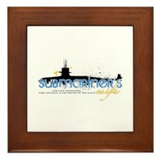 Submariner's Wife Framed Tile