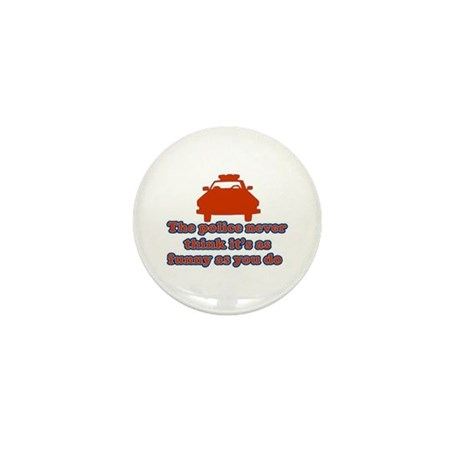 Funny Police Mini Button (10 pack)