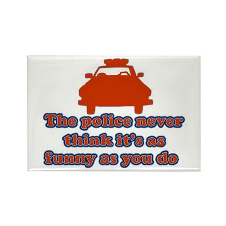 Funny Police Rectangle Magnet (100 pack)