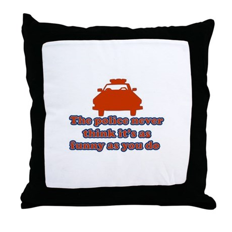 Funny Police Throw Pillow