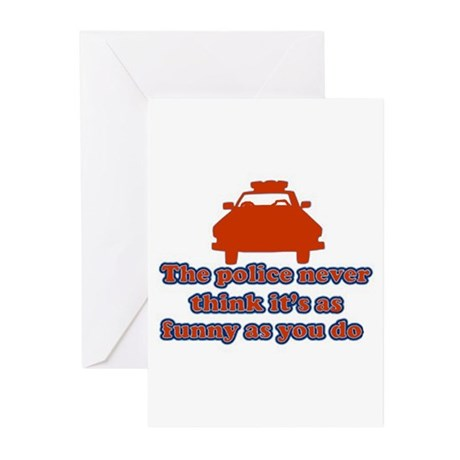 Funny Police Greeting Cards (Pk of 10)