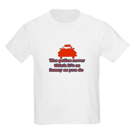 Funny Police Kids Light T-Shirt