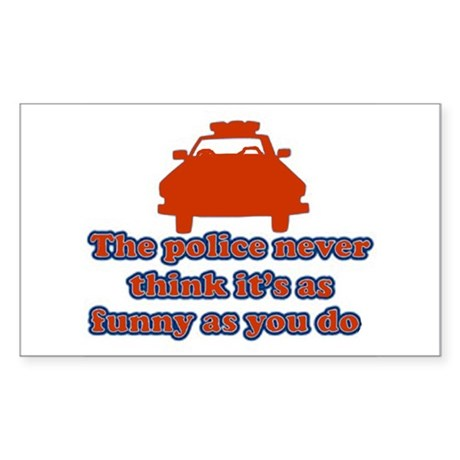 Funny Police Rectangle Sticker 50 pk)