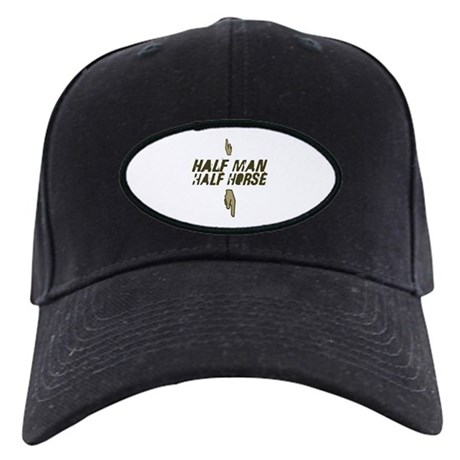 Man/Horse Black Cap