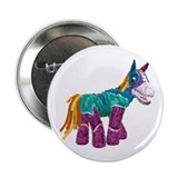 "Horsestachio 2.25"" Button (100 pack)"