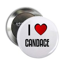 "I LOVE CANDACE 2.25"" Button (100 pack)"