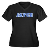 Retro Jayce (Blue) Women's Plus Size V-Neck Dark T
