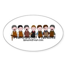 Peanutbutter & Newsies Oval Decal
