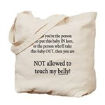 Not allowed Tote Bag