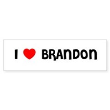 I LOVE BRANDON Bumper Bumper Sticker